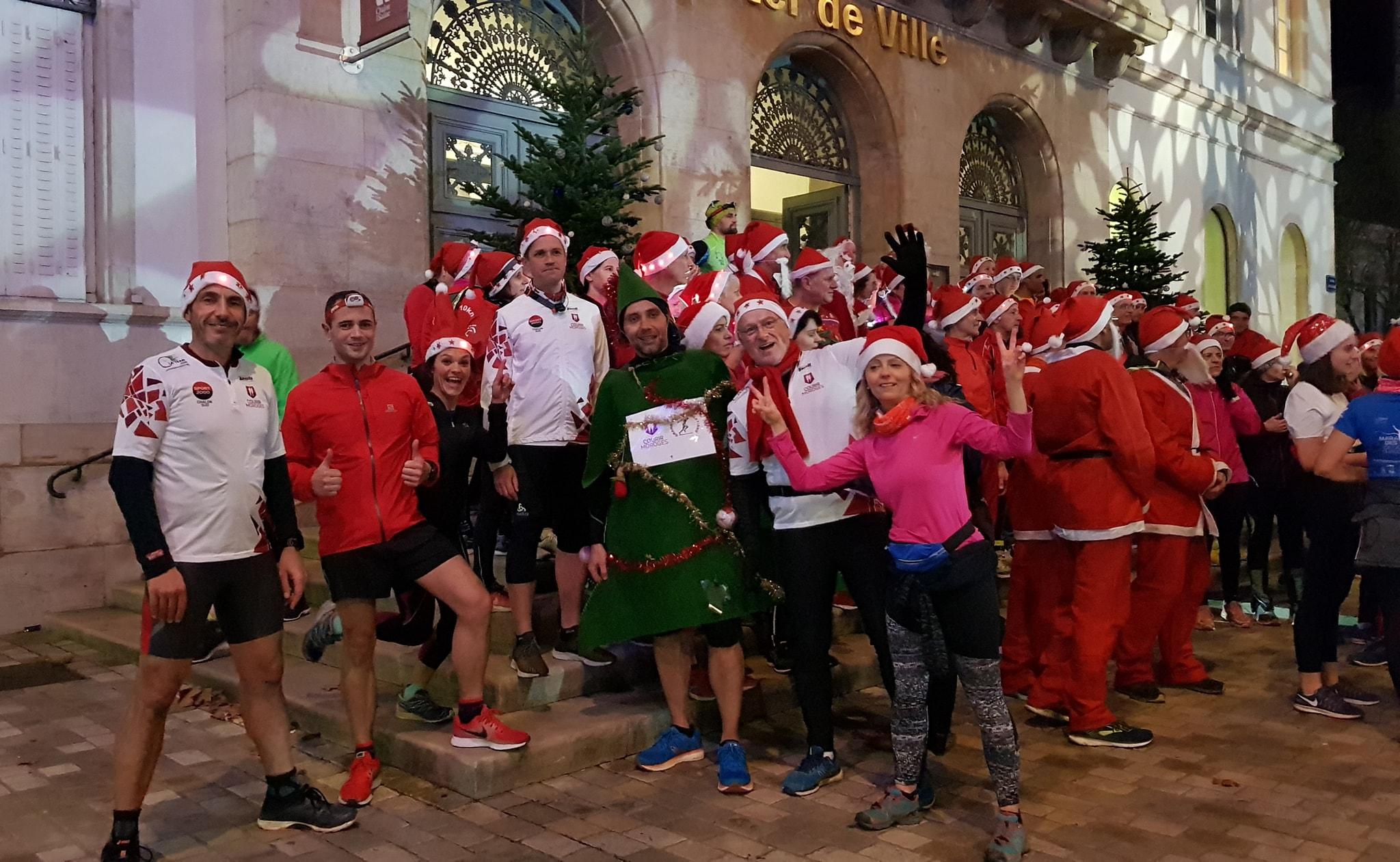 Running des Pères Noël à Chalon-sur-Saône